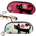 黒猫パッチワーク メガネケース★ノアファミリー(猫雑貨 ネコグッズ キャット)