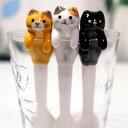 デコレ(DECOLE)猫よじのぼりスプーン(黒猫 トラ猫 三毛猫 猫雑貨 ねこ雑貨 ネコ雑貨 猫グッズ ねこグッズ ネコグッズ キャット)