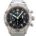 ブレゲ BREGUET アエロナバル 3800ST/92/SW9 ブラック文字盤 メンズ 腕時計 【中古】