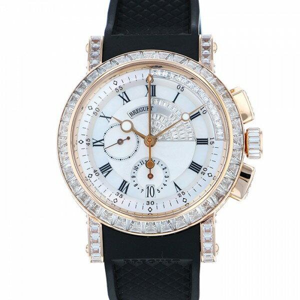 ブレゲ BREGUET マリーン 5829 5829BR/8D/9ZU DD0D ホワイト文字盤 メンズ 腕時計 【中古】
