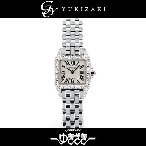 カルティエ CARTIER サントスドゥモワゼル WF9003Y8 シルバー文字盤 レディース 腕時計 【中古】