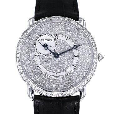 カルティエ CARTIER ロンド ルイ・カルティエ ダイヤモンド コレクション WR007003 ダイヤモンド文字盤 メンズ 腕時計 【新品】
