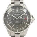 シャネル CHANEL J12 クロマティック GMT H3099 グレー文字盤 メンズ 腕時計 【中古】