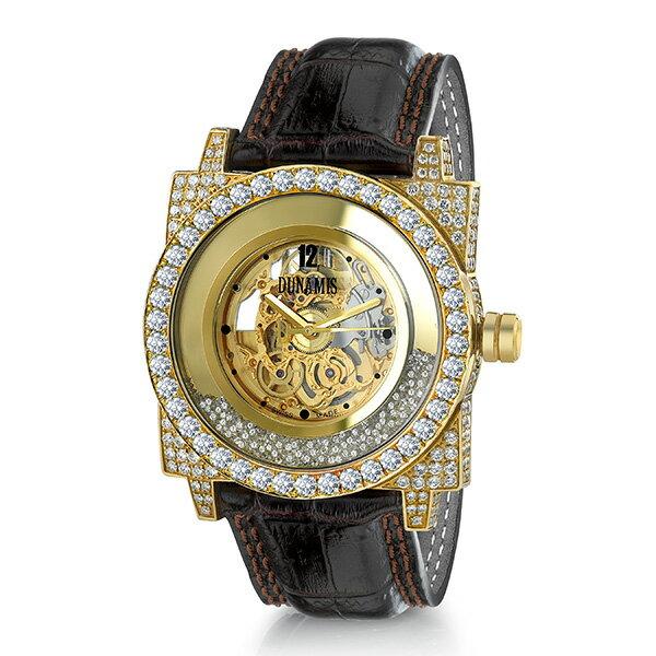デュナミス DUNAMIS ヒュブリス HU-Y5 シルバー文字盤 メンズ 腕時計 【新品】