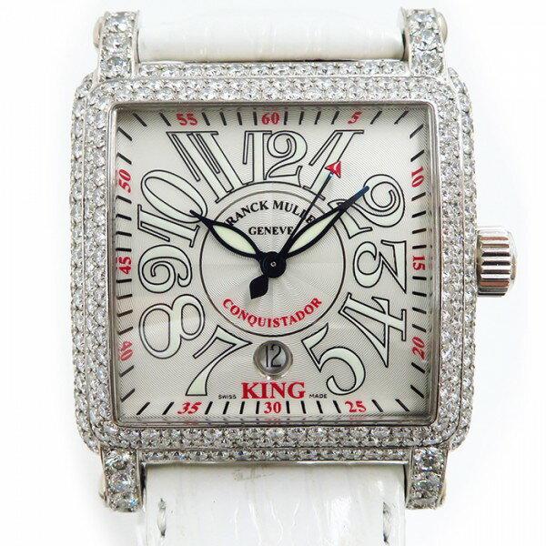 フランク・ミュラー FRANCK MULLER キング コンキスタドール 10000K SC D シルバー文字盤 メンズ 腕時計 【中古】