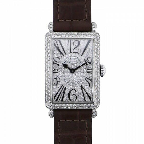 フランク・ミュラー FRANCK MULLER ロングアイランド 902QZ V-R D CD 全面ダイヤモンド文字盤 レディース 腕時計 【新品】