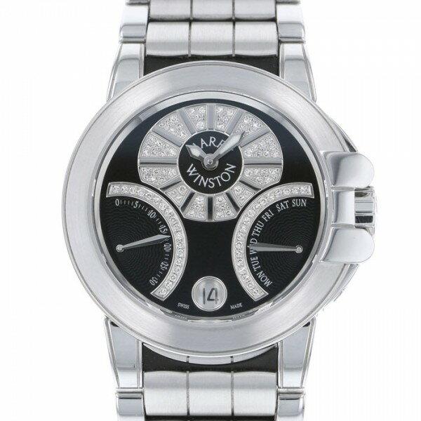 ハリー・ウィンストン HARRY WINSTON オーシャン バイレトログラード OCEABI36WW019 ブラック/ダイヤ文字盤 レディース 腕時計 【新品】