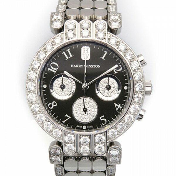ハリー・ウィンストン HARRY WINSTON プルミエール 200MCQ37W ブラック文字盤 ボーイズ 腕時計 【中古】