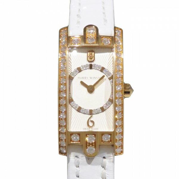 ハリー・ウィンストン HARRY WINSTON アヴェニュー C ミニ アールデコ ベゼルダイヤ AVCQHM16RR037 シルバー文字盤 レディース 腕時計 【新品】