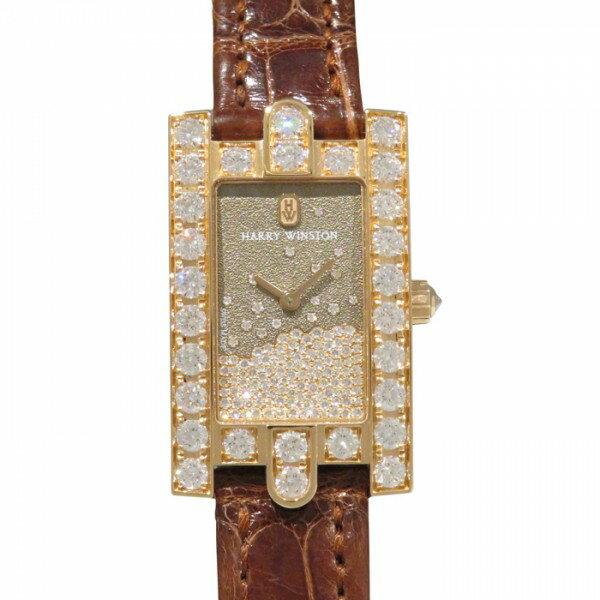 ハリー・ウィンストン HARRY WINSTON アヴェニュー ダイヤモンド ドロップ AVEQHM21RR119 ブラウン文字盤 レディース 腕時計 【新品】