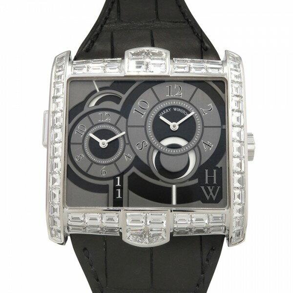 ハリー・ウィンストン HARRY WINSTON アヴェニュー スクエアード AVSATZ45WW003 グレー文字盤 メンズ 腕時計 【未使用品】