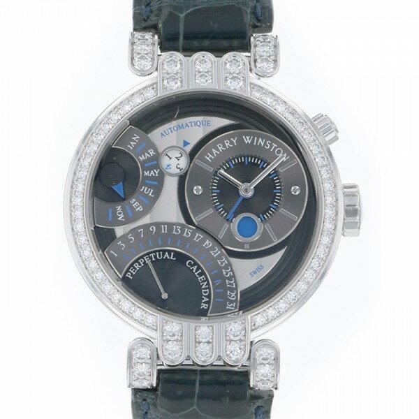 ハリー・ウィンストン HARRY WINSTON プルミエール エキセンター 200/MAPC41W グレー文字盤 メンズ 腕時計 【中古】
