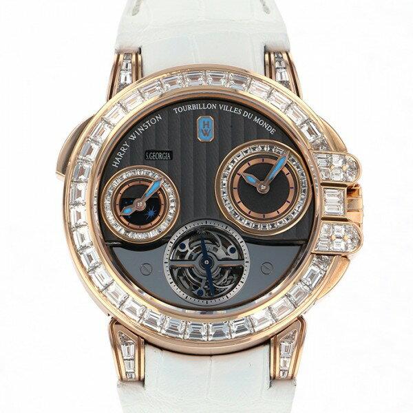 ハリー・ウィンストン HARRY WINSTON オーシャン 400/MATTZ45R グレー文字盤 メンズ 腕時計 【中古】
