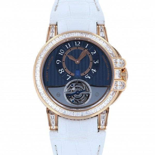 ハリー・ウィンストン HARRY WINSTON オーシャン トゥールビヨン ベゼルバケットダイヤ 世界10本限定  OCEATO44RR009 グレー文字盤 メンズ 腕時計 【中古】