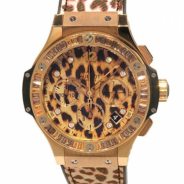 ウブロ HUBLOT ビッグバン ゴールドレオパード 世界限定250本 341.PX.7610.NR.1976 レオパード文字盤 ボーイズ 腕時計 【新品】