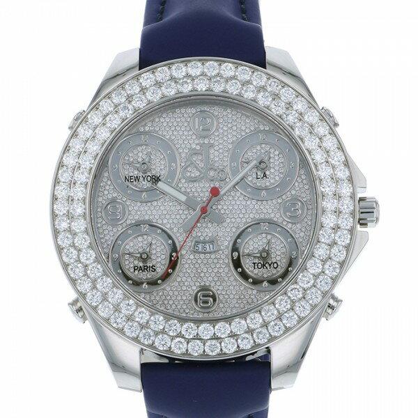 ジェイコブ JACOB&CO ファイブタイムゾーン ジャンボ JC-30JDD シルバー文字盤 メンズ 腕時計 【新品】