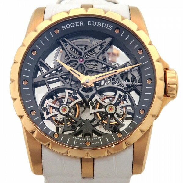 ロジェ・デュブイ ROGER DUBUIS エクスカリバー ダブルフライングトゥールビヨン スケルトン RDDBEX0395 グレー文字盤 メンズ 腕時計 【中古】