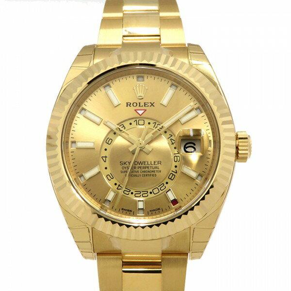 ロレックス ROLEX スカイドゥエラー 326938 ゴールド文字盤 メンズ 腕時計 【新品】