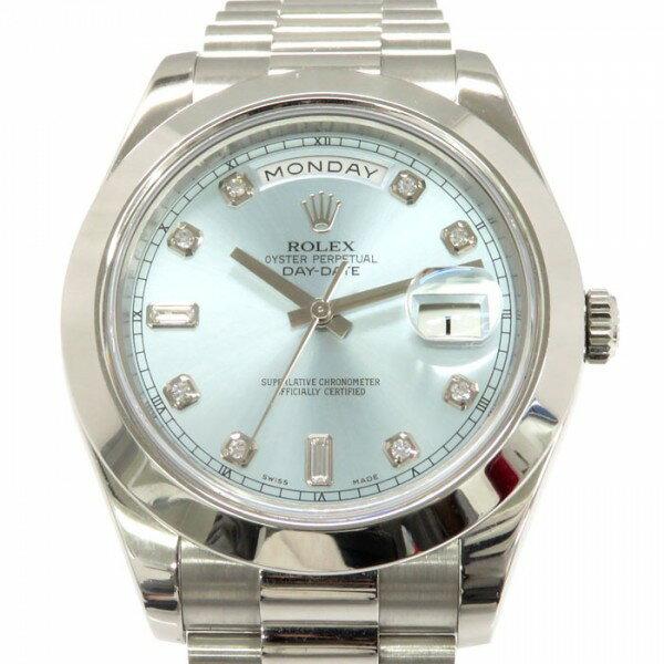 ロレックス ROLEX デイデイト41 218206A アイスブルー文字盤 メンズ 腕時計 【中古】