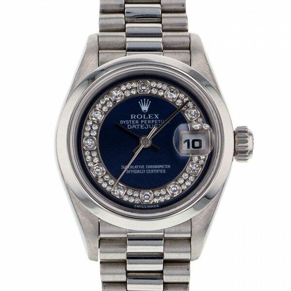 ロレックス ROLEX デイトジャスト 69166G ブルー文字盤 レディース 腕時計 【新品】