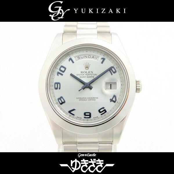 ロレックス ROLEX デイデイト 218206 アイスブルー文字盤 メンズ 腕時計 【中古】