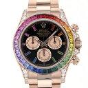 ロレックス ROLEX デイトナ 116595RBOW ブラック文字盤 メンズ 腕時計 【未使用】