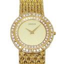 セイコー SEIKO クレドール ベゼルダイヤ 8N70-6090 ゴールド文字盤 アンティーク 腕時計 メンズ
