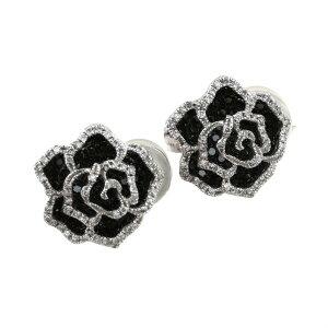 K18WG ホワイトゴールド ブラックダイヤ ダイヤモンド