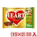 (本州送料無料)不二家 12枚 ハートチョコレート(アーモンド)袋(15×2)30入 (Y12)#