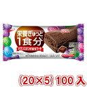 (本州送料無料) 江崎グリコ バランスオンminiケーキチョコブラウニー (20×5)100入。