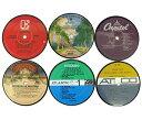 アナログレコード製 レコードレーベル コースター 2枚組 Vinylux ビニーラクス社製 バー パブ 喫茶店 USA直輸入 送料無料