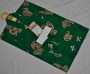 100g336/日本製女児浴衣/鮮やかなグリーン系におとぼけくまさん ♪夏ですね*遊びに行こう〜♪ゆうパケット発送*定形外発送OK