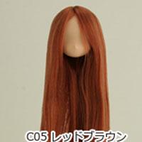 21HD-01植毛ヘッドナチュラルレッドブラウン