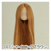 オビツボディ 【オビツ製作所】オビツドール 植毛ヘッド 11-01 ホワイティ シャイニングブラウン人形の頭 ウィッグ 髪の毛付き