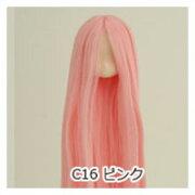 オビツボディ 【オビツ製作所】オビツドール 植毛ヘッド 11-01 ホワイティ ピンク人形の頭 ウィッグ 髪の毛付き