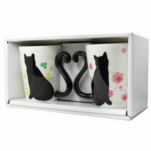 マグカップル 黒猫/寄り添い (ペアマグカップ)