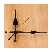 【手作り時計】時計針 Q-9 黒色針三針 【20個パック】