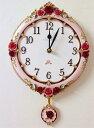 薔薇雑貨 掛け時計 北欧 おしゃれ かわいい アンティークローズ 母の日ギフト