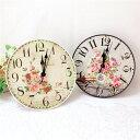壁掛置兼用時計 置時計 おしゃれ 北欧 アンティーク ピンク レッド 薔薇雑貨 母の日ギフト