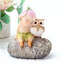【フクロ】フェアリー ミニ 天使 置物 おしゃれ かわいい 瞑想 お岩