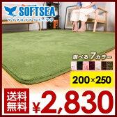 送料無料ラグ 200X250 3畳 洗える 滑りとめ ウォッシャブル 北欧 シャギーラグ リビングマット カーペット ウォッシャブル 絨毯 じゅうたん 無地 マイクロファイバー スマホ rug carpet 02P09Jul16