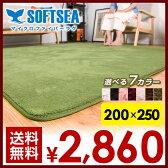 ラグ 200X250 3畳 洗える 滑りとめ ウォッシャブル 北欧 シャギーラグ リビングマット カーペット ウォッシャブル 絨毯 じゅうたん 無地 マイクロファイバー スマホ rug carpet送料無料