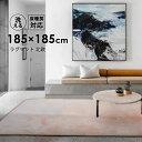 ラグ ラグマット 洗える 185X185cm 2畳 おしゃれ 北欧 シャギーラグ カーペット ウォッシャブル 絨毯 じゅうたん リビング 床暖房対応 マイクロファイバー