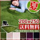 楽天最安値に挑戦中!ラグマット 夏用 200×250 洗える ラグ マット カーペット3畳 グリーン 滑り止め ラグ 北欧 ウォッシャブル マイクロファイバー 絨毯 ragu mat じゅうたんカラー・サイズを選べるラグマット誰かに教えたくなる触り心地!(140×200/185×185/200×250)(グリーン/ ブラウン/アイボリー/ベージュ/パープル/ブラック)