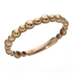 【日本製】【送料無料】K10PGリング 9号 (カテゴリー:ファッション>リング>指輪>その他のリング>指輪 ) K10PGリング/指輪 ファッション リング 指輪 その他のリング 指輪