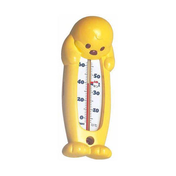 (まとめ)EMPEX 浮型 湯温計 ぷかぷかラッコ TG-5204 イエロー【×5セット】 (カテゴリー:家電>生活家電>その他の生活家電 )