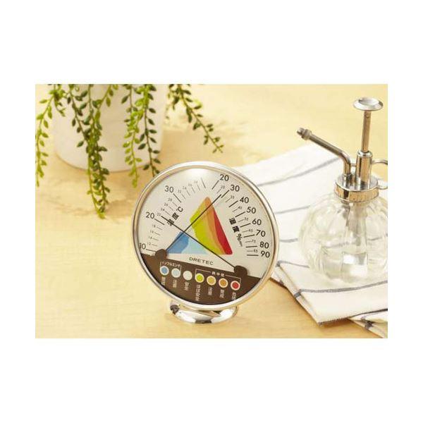 (まとめ)DRETEC 快適な温度 湿度がひと目でわかる 快適温湿度範囲表示 温湿度計 O-311WT【×5セット】 (カテゴリー:家電>生活家電>その他の生活家電 )