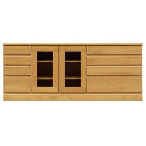 4段ローボード/テレビ台 【幅150cm】 木製 扉整理 収