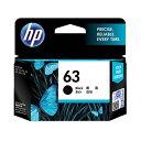 (まとめ) HP インクHP63 F6U62AAブラック【×5セット】 黒