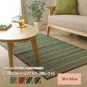 シンプル い草 ラグマット/絨毯 【レッド 約88cm×160cm】 裏面:不織布 防滑 抗菌 防臭 消臭 調湿 空気清浄効果 『NSレクト』